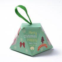 Mikulás Karácsonyi Díszdoboz Ékszerdoboz Ajándékdoboz 8x8x6,5cm
