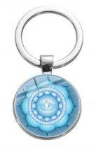 Ezüst Színű Mandala (11) Kulcstartó Karika 27,5x60mm