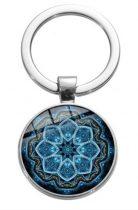 Ezüst Színű Mandala (13) Kulcstartó Karika 27,5x60mm