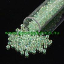 Gyöngyház Zöld Kásagyöngy 2,3mm 9/0 10gr
