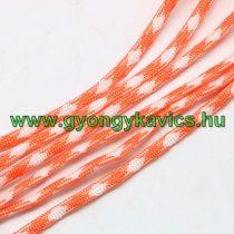 Narancssárga Fehér Parakord Zsinór Hajókötél 4mm (1m)