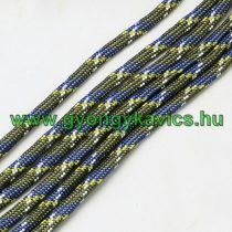 Zöld Kék Sárga Parakord Zsinór Hajókötél 4mm (1m)