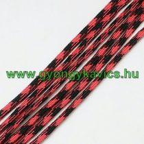 Piros Fekete Parakord Zsinór Hajókötél 4mm (1m)