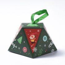 Karácsonyi Díszdoboz Ékszerdoboz Ajándékdoboz 8x8x6,5cm