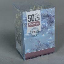 50 Ledes Hideg Fehér Elemes Karácsonyi Fényfüzér