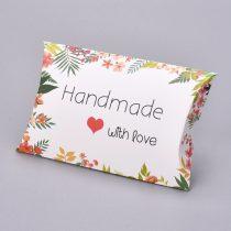 Kézzel Készült Szeretettel Handmade With Love Díszdoboz Ékszerdoboz Ajándékdoboz 12,5x7,6x2cm