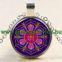 Ezüst Színű Mandala Jóga (67) Medál Lánccal Nyaklánc 27,5mm