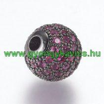 Fekete Rózsaszín Színű Cirkón Cirkónia Strasszos Nyaklánc Karkötő Ékszer Dísz Közdarab Köztes 10mm