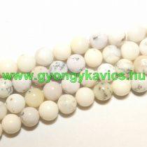 Afrikai Fehér Opál (2) Ásványgyöngy Gyöngyfüzér 10mm