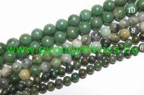 Afrikai Zöld Jade Ásványgyöngy Gyöngyfüzér 6mm