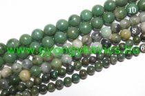 Afrikai Zöld Jade Ásványgyöngy 6mm