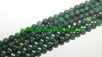 Afrikai Zöld Jade (2) Ásványgyöngy Gyöngyfüzér 8mm