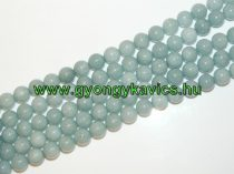 Akvamarin Jade Ásványgyöngy 12mm
