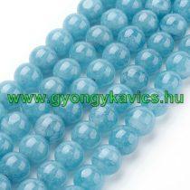 Akvamarin Jade (sötét) Ásványgyöngy Gyöngyfüzér 10mm