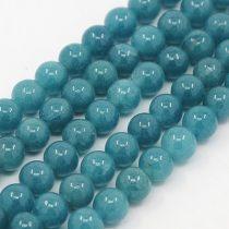 Akvamarin Jade (sötét) Ásványgyöngy Gyöngyfüzér 6mm