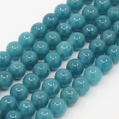 Akvamarin Jade (sötét) Ásványgyöngy 6mm