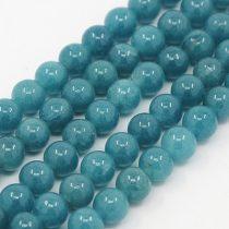 Akvamarin Jade (sötét) Ásványgyöngy Gyöngyfüzér 8mm