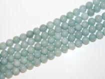 Akvamarinkék Angelit (világos) Ásványgyöngy Gyöngyfüzér 10mm