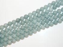 Akvamarinkék Angelit (világos) Ásványgyöngy Gyöngyfüzér 12mm