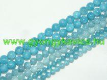 Akvamarin Kék Kvarc Ásványgyöngy Gyöngyfüzér 10mm