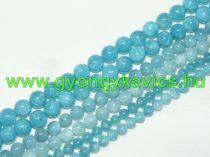 Akvamarin Kék Kvarc Ásványgyöngy 10mm