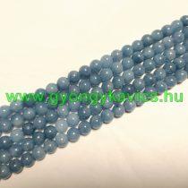 Akvamarin Kék Kvarc Ásványgyöngy Gyöngyfüzér 8mm
