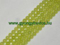 Almazöld Zöld Jade Ásványgyöngy Gyöngyfüzér 6mm