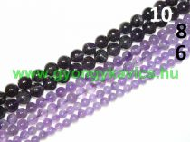 Ametiszt (sötét) Ásványgyöngy 10mm