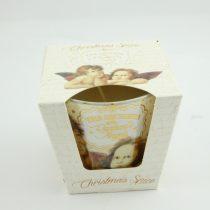 Angyalkás Karácsonyi Fűszer Poharas Illatgyertya