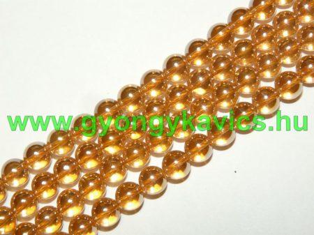 Arany Angyal Aura Kvarc Ásványgyöngy Gyöngyfüzér 8mm