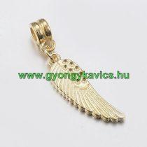 Arany Színű Angyalszárny Charm Köztes Ékszer Dísz 36x8mm