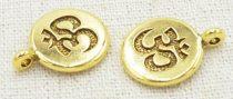 Arany Színű Aum Ohm Medál 15mm
