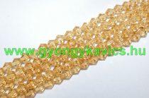 Arany Bicon Üveggyöngy Gyöngyfüzér 6mm