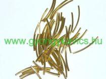 Arany Színű Cső Nyaklánc Karkötő Ékszer Dísz Közdarab Köztes 2x25mm