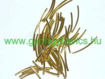 Arany Színű Cső Nyaklánc Karkötő Ékszer Dísz Közdarab Köztes 2,5x20mm