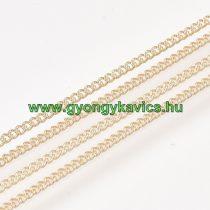 Arany Színű (4) Nyaklánc Ékszer Lánc 1,2x0,6mm 1m
