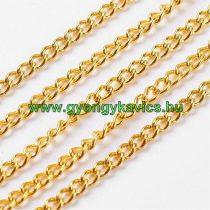 Arany Színű (7) Nyaklánc Ékszer Lánc 2x0,6mm 1m