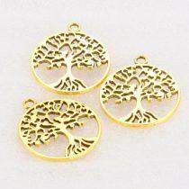 Arany Színű Életfa Medál 25,5mm