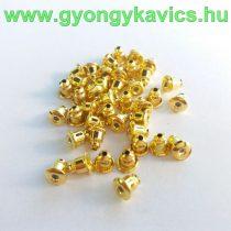 Arany Színű Fülbevaló Dugó 5x5mm Lyuk 1mm