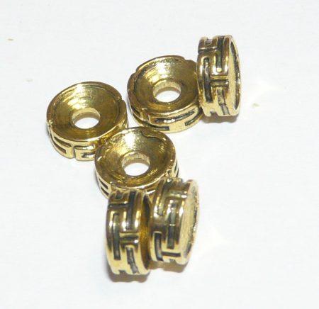 Arany Színű Görögmintás Nyaklánc Karkötő Ékszer Dísz Közdarab 7,3mm