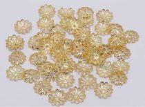 Arany Színű Virág Gyöngykupak Nyaklánc Karkötő Ékszer Dísz Közdarab 9mm