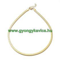 Arany Színű Nemesacél Halszálka Nyaklánc 45cm