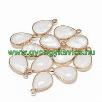 Arany Fazettált Hegyikristály Ásvány Medál 24x15x6mm