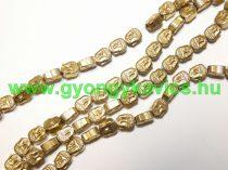 Arany Hematit Buddha Ásványgyöngy Gyöngyfüzér 8x7x4mm