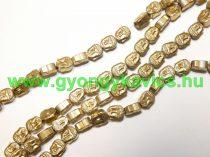 Arany Hematit Buddha Ásványgyöngy 8x7x4mm