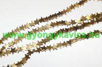 Arany Hematit Csillag Ásványgyöngy 8x3mm