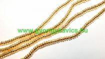 Arany Hematit Korong Ásványgyöngy Gyöngyfüzér 4x2mm