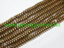 Arany Hematit Korong Ásványgyöngy 6x3mm