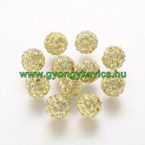 Arany Színű Nyaklánc Karkötő Ékszer Dísz Polymer Polimer Shamballa Strassz Kövekkel 8mm