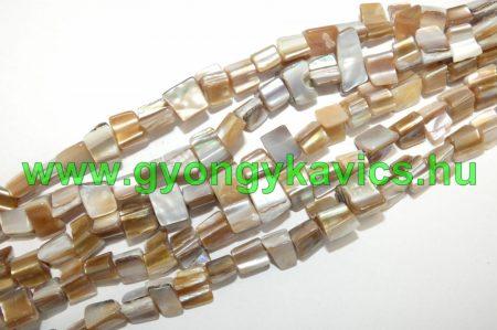 Arany Kagyló Gyöngy 8x8x5mm